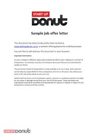 job offer letter template startup donut