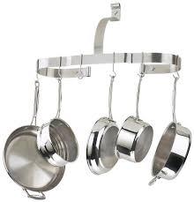 kitchen pot racks with lights amazon com cuisinart crow 25b oval cookware rack kitchen pot