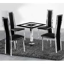 Dining Room Table Sales by Holly Square Dining Table And 4 Black Deluxe Dining Chairs Table