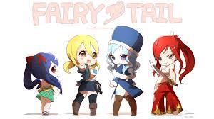 fairy tail anime fairy tail chibi girls wallpaper hd