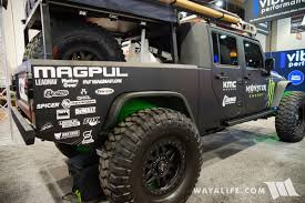 jku jeep truck 2017 sema baja designs jeep jk wrangler crew cab pickup truck