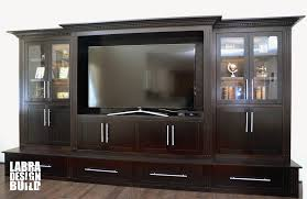 Entertainment Center Design by Dark Maple Wood Entertainment Center Labra Design Build