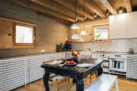 modern rustic kitchen design architectural revival sustainable rammed earth house in spain