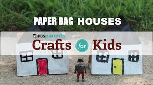 paper bag houses crafts for kids pbs parents youtube