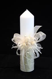 communion candles christening candle ceremony candle holy by ceremonydeluxe