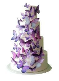 wedding cake edible decorations wedding cake topper purple edible butterfly wedding