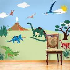 dinosaur wall mural stencil kit for boy s room dinosaur wall mural