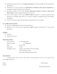 Mechanical Engineer Resume Sample Doc by Resume Format Doc For Polytechnic Students Resume Ixiplay Free