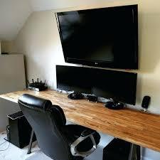 Best Desks For Gaming Gaming Desk Ikea Clean Desk Setup Tour Ft Walnut Desks Best Desks