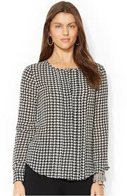 houndstooth blouse ralph sleeve houndstooth print blouse where