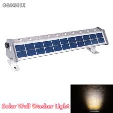 solar bright lights outdoor new design super bright 200lm 10 led solar wall washer light outdoor