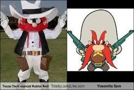 Texas Tech Memes - texas tech mascot raider red totally looks like yosemite sam