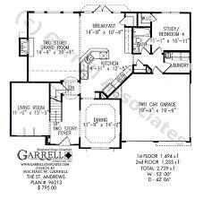 Tudor Floor Plan St Andrews House Plan House Plans By Garrell Associates Inc