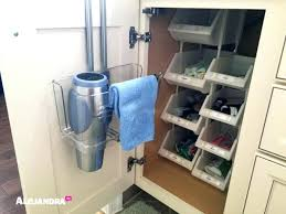 How To Organize Under Your Bathroom Sink - bathroom cabinet organizer bathroom cabinet organization tips how
