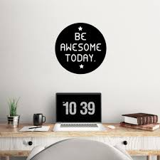 aliexpress com buy be awesome today quotes decorative vinyl wall aliexpress com buy be awesome today quotes decorative vinyl wall decal stickers waterproof wall art removable home office decor from reliable decorative