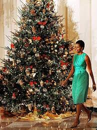White House Christmas Ornament - obamas recycle ornaments from christmas past