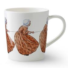 elsa beskow mug with handle aunt brown 40cl catharina kippel
