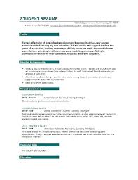 resume for college application objectives student resume objective
