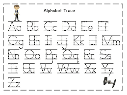 printable alphabet tracing letters free tracing letters for kids activities pinterest free printable