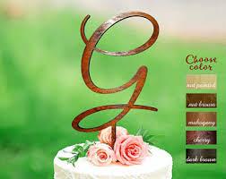 gold letter cake topper letter g cake topper etsy