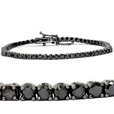 black diamond gold bracelet images 4ct black diamond tennis bracelet 14k black gold 7 jpg