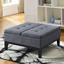 Coffee Table Or Ottoman - home dover slate gray square coffee table ottoman and split lift