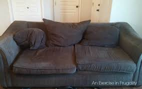 how to fix a sagging sofa how to stuff couch cushions an exercise in frugality