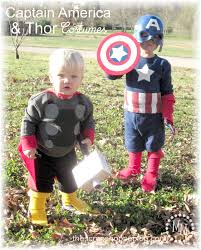 diy captain america u0026 thor costumes the scrap shoppe