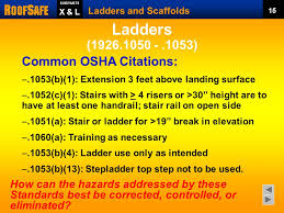 Handrail Requirements Osha Ladders And Scaffolds Trainer U0027s Notes Ppt Download