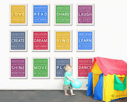 Wall Art For Kids Room by Word Art Wall Art For Kids Playroom Prints Playroom Wall Art