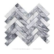 Marble Mosaic Tile White And Grey Herringbone Backsplash Marble Mosaic Tile Buy