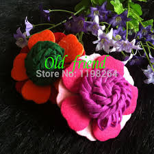 flowers for headbands top quality 3 fashion felt hair flowers for headbands clothing