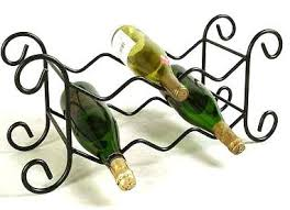 small wrought iron 6 bottle wine rack home interior design themes