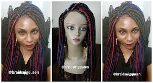 hair braid for a closure how to medium box braid wig with lace closure 5 colors youtube