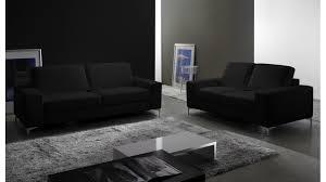 canapé cuir noir 2 places canapé 2 places en cuir pas cher canapé design