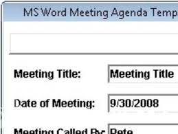 ms word meeting agenda template software 7 0 free download