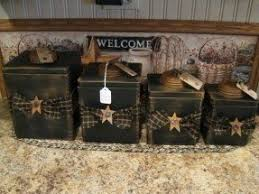 primitive kitchen canisters country kitchen canister set foter
