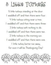 5 turkey poems for preschool search prek