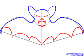 Scary Halloween Pictures To Draw How To Draw A Halloween Bat Step By Step Halloween Seasonal
