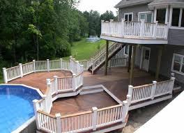 House Design And Ideas Best 25 Two Level Deck Ideas On Pinterest Backyard Decks Large