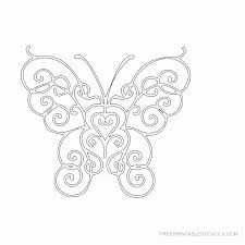 free printable butterfly pictures coloring home