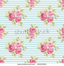 cute seamless shabby chic pattern roses stock vector 485219554