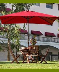 Red Rectangular Patio Umbrella Patio Umbrella Solar Powered Led Lights Nucleus Home