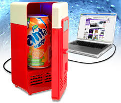 mini usb fridge cooler warmer gadget drink cans refrigerator