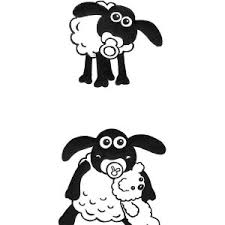 shaun sheep coloring kids color luna