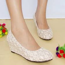 wedding shoes wedges the high heeled single shoes flat heel women s bow