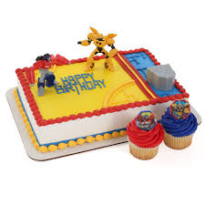 24 x transformers rice paper birthday cake toppers transformers cake topper and 24 cupcake topper rings party ideas