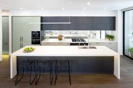 appliances white oak flooring with full back black metal counter