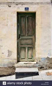 old wooden entrance door of spanish house at el hierro number 20