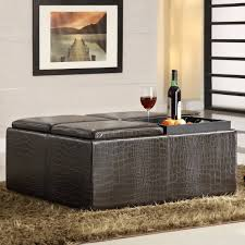 Soft Ottoman Cube Sofa Storage Ottoman Leather Ottoman Coffee Table Storage